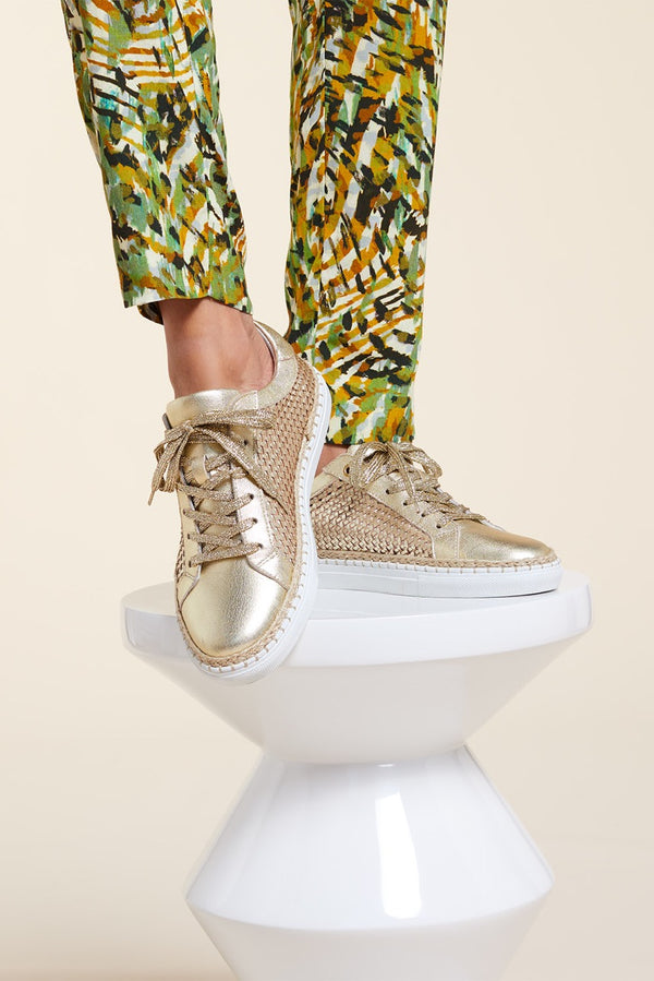 OCTANE - Tennis light gold en cuir