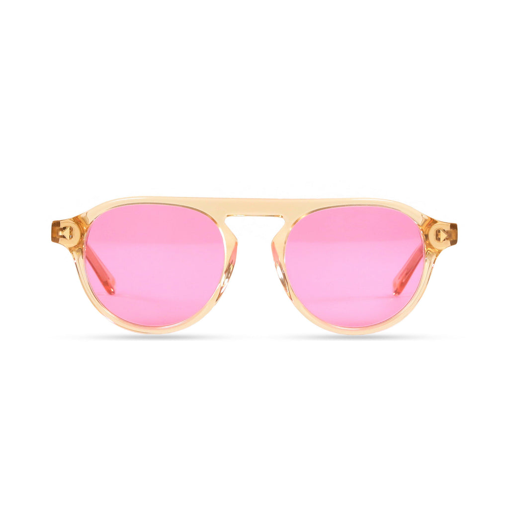 Idris PRYZMEYEWEAR Brown Crystal Pink