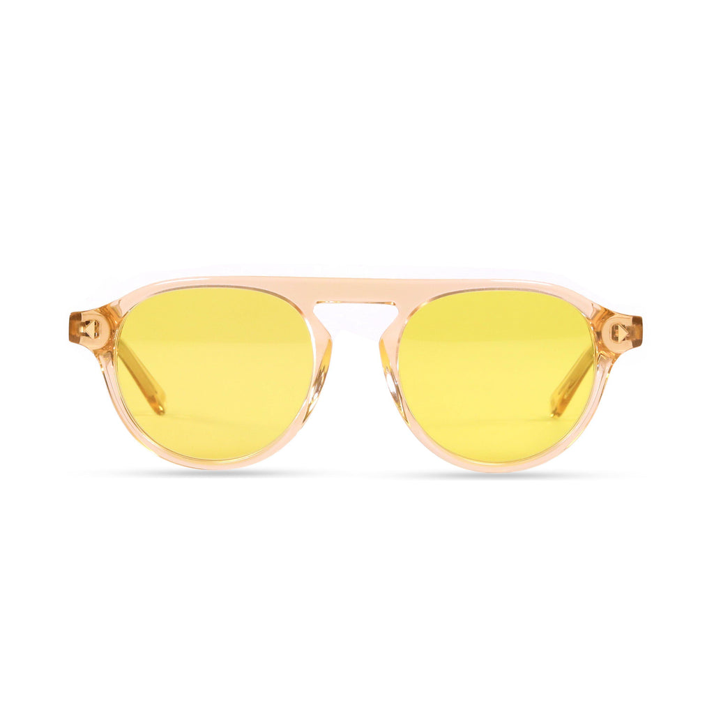 Idris PRYZMEYEWEAR Brown Crystal Yellow