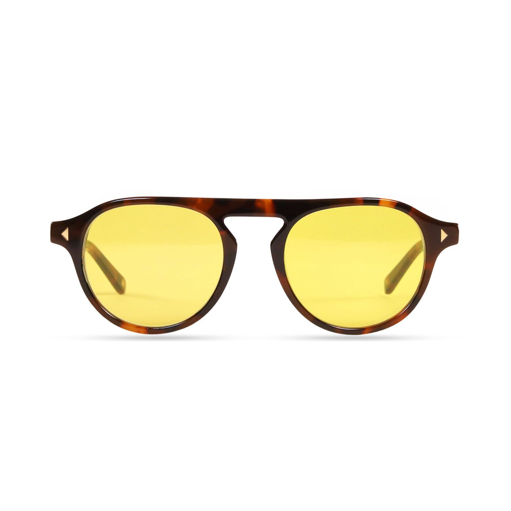 Idris PRYZMEYEWEAR Dark Tortoise Yellow