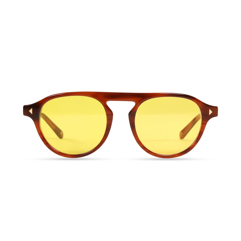 Idris PRYZMEYEWEAR Light Brown Yellow