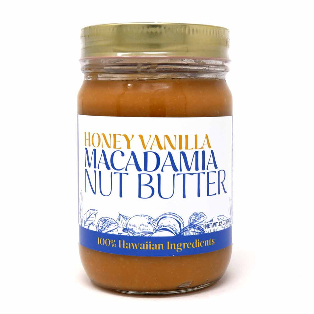 Honey Vanilla Macadamia Nut Butter 12oz.