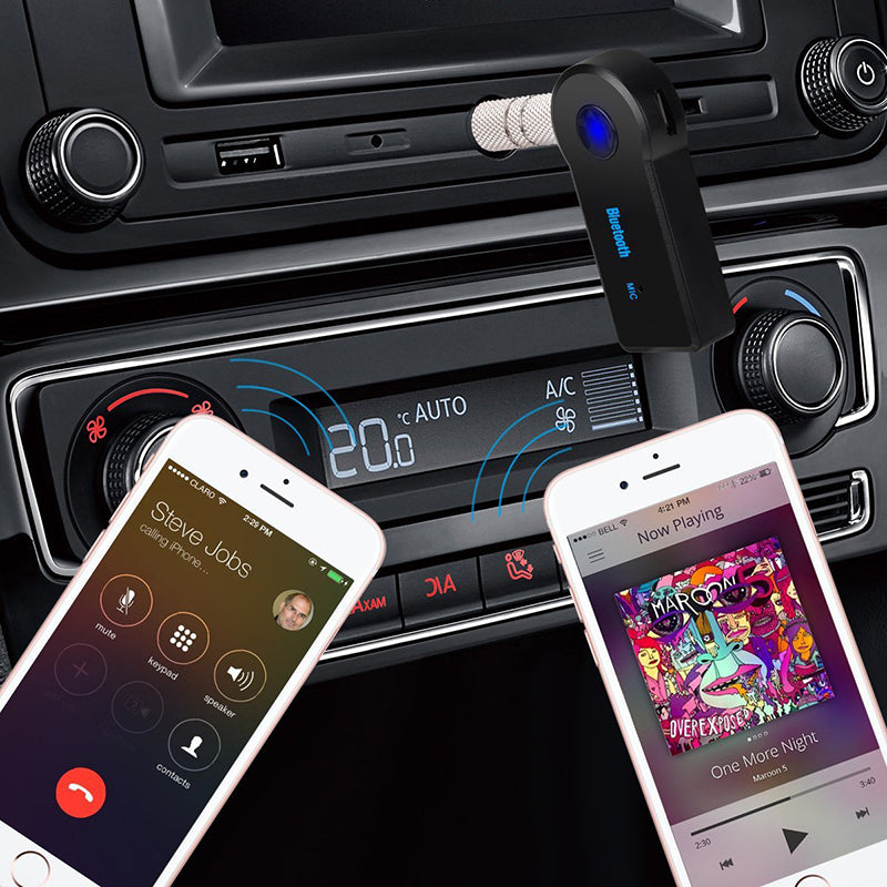 2 in 1 Wireless Bluetooth 5.0 Receiver with 3.5mm Jack For Car Music Audio Aux