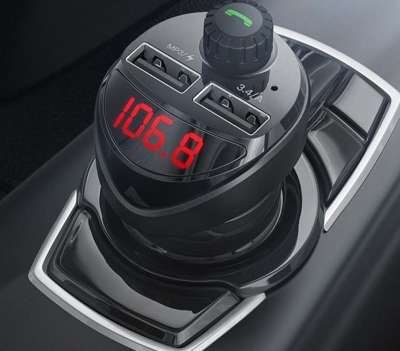 Car Charger FM Transmitter and Bluetooth