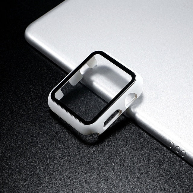 Screen protector with case for Apple Watch