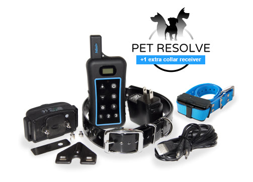 Pet Resolve Dog Training System for Two Dogs - Full Set Plus One Extra Receiver Collar