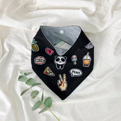 Funky Patch Bib - Black