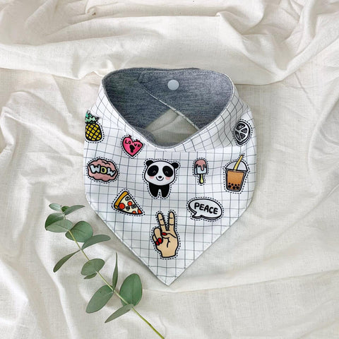 Funky Patch Bib - White