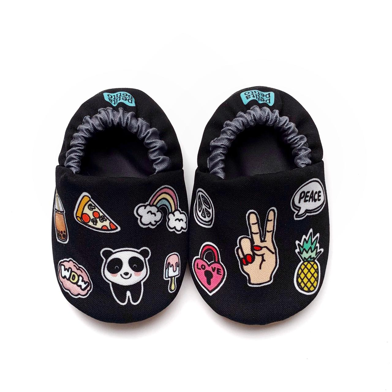 Funky Patch Mini Shoes in Black