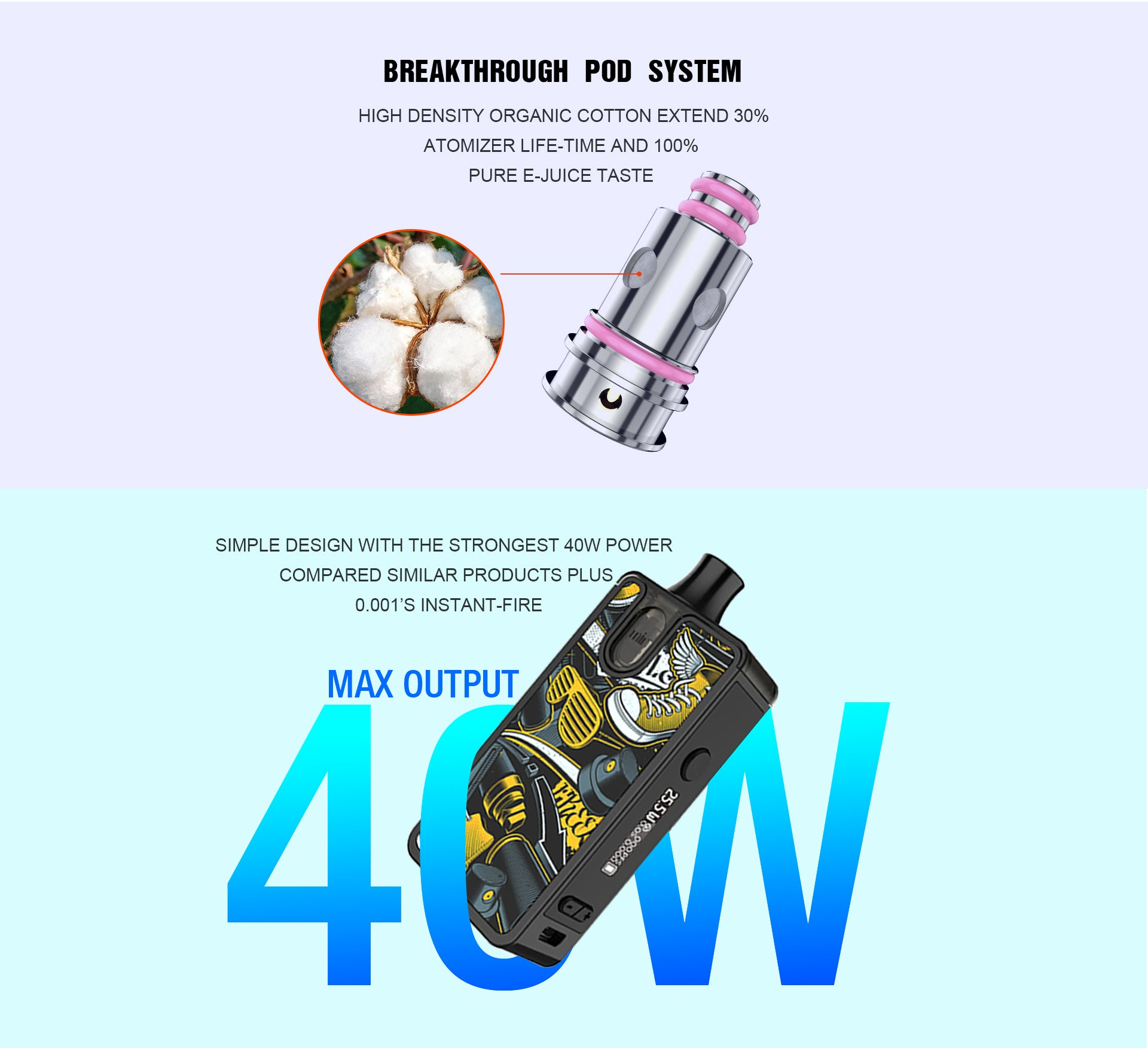 AAAVape Matrix 40W AIO Pod Kit