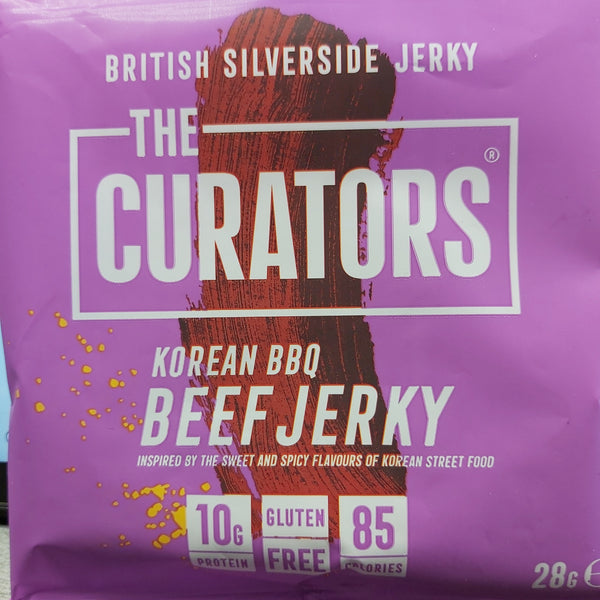 The Curators Beef Jerky - Korean BBQ 28g
