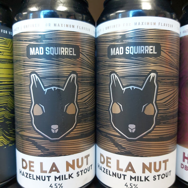 Mad Squirrel De La Nut Hazelnut Milk Stout 440ml 4.5%