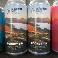 Raven Hill Pocket Tin Romneys Chocolate Mint Cake Stout 440ml 6%