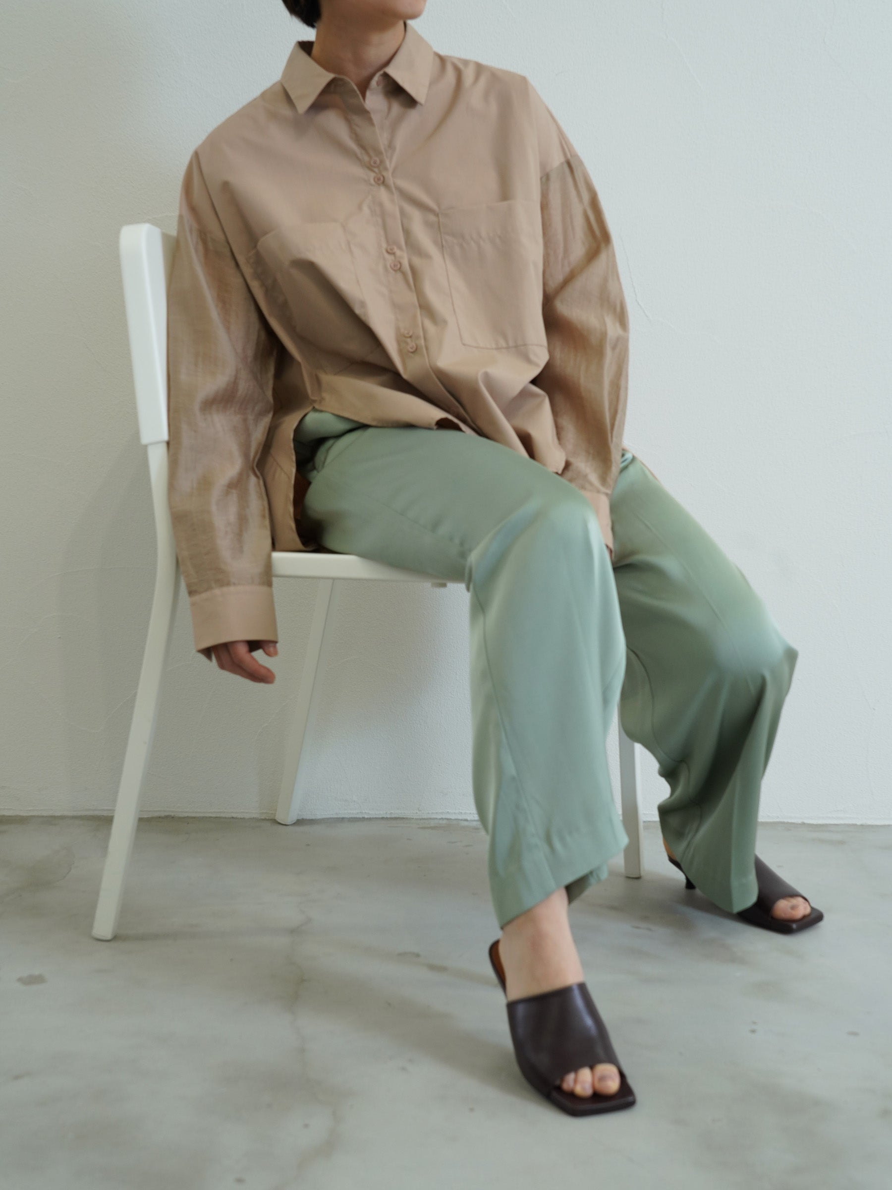 vintage satin wide easy pants