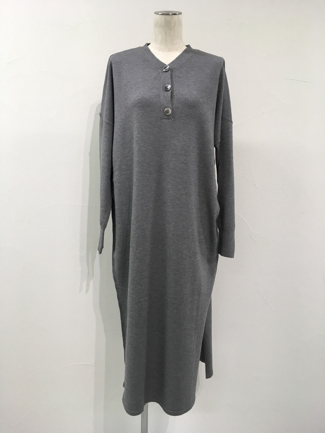 V neck long knit