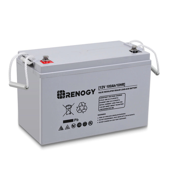 Renogy 12V 100Ah Deep Cycle, High Performance AGM Battery