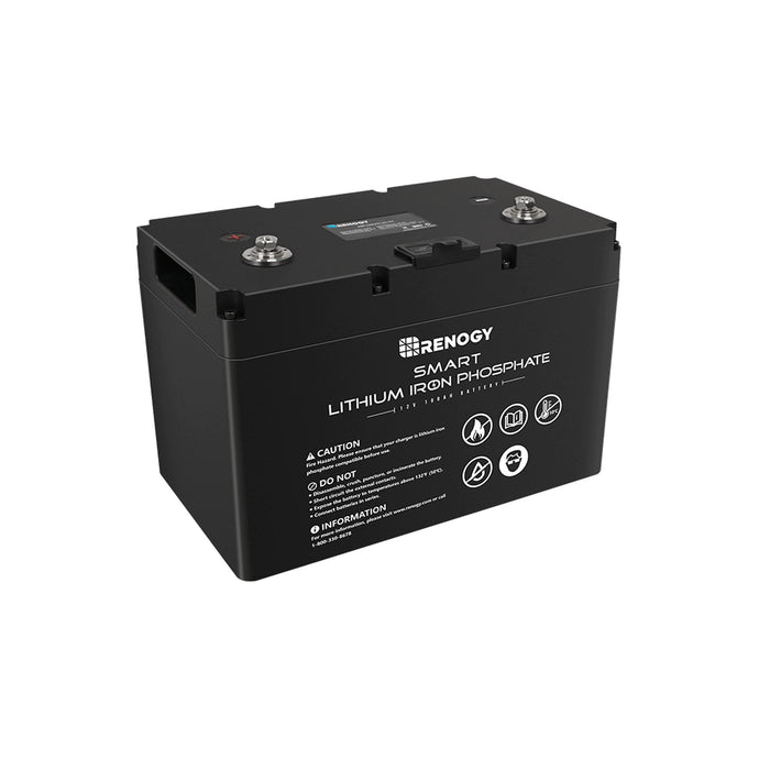 Renogy 12V 100Ah High Performance SMART Lithium Iron Phosphate Battery