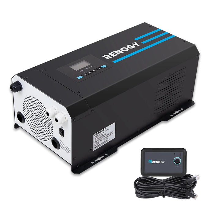 Renogy 3000W 12V Pure Sine Wave Inverter Charger with LCD Display