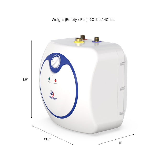 Eccotemp EM-2.5 Electric 2.5 Gallon Mini Storage Tank Water Heater