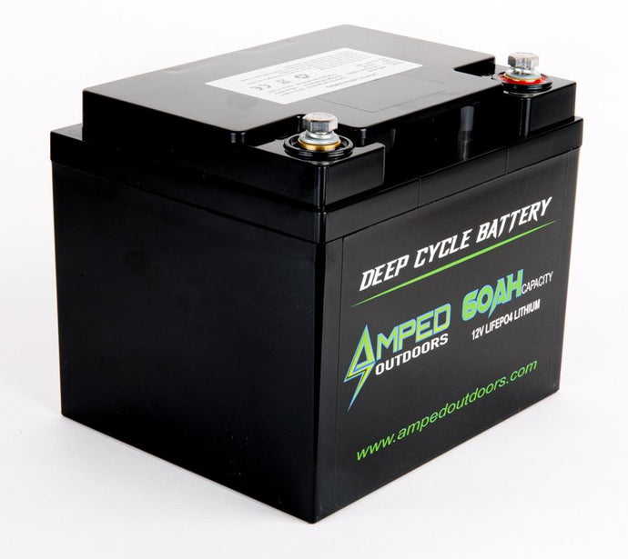 Amped Outdoors 12V 60AH Lithium-iron (LiFePO4) High Performance Battery — Expected availability May 5th