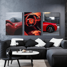 Load image into Gallery viewer, Rainy Ferrari 458 Metal Print - CARSOVRGIRLS