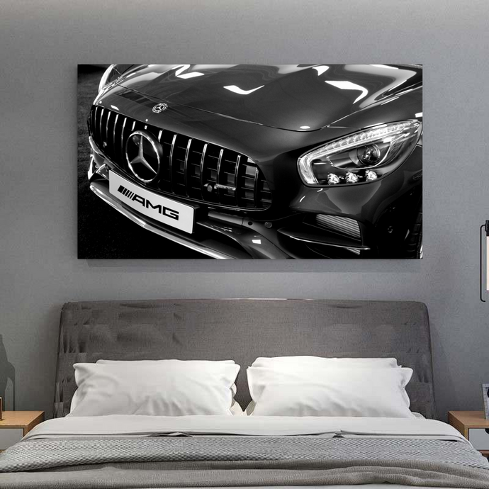 Black and White AMG GTS Metal Print - CARSOVRGIRLS