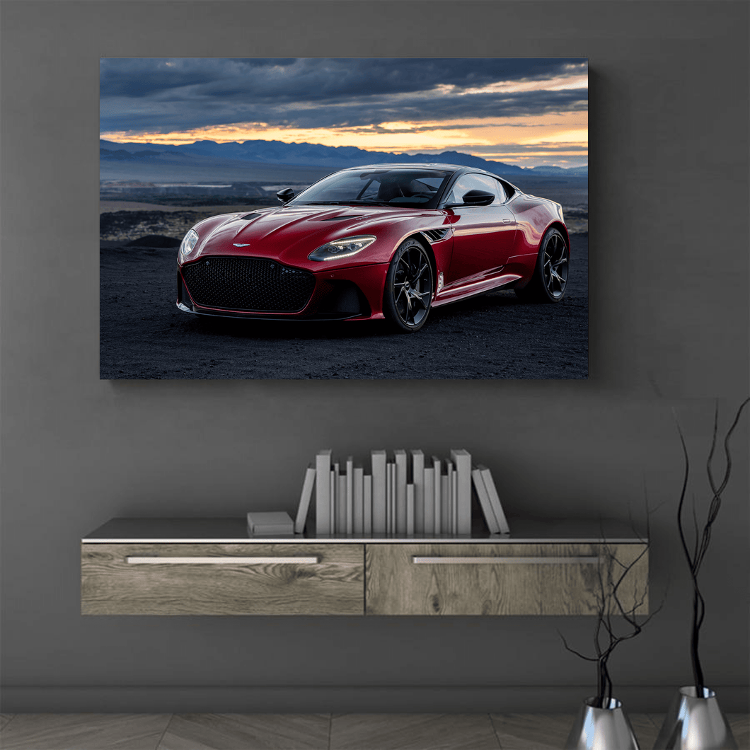 Aston DBS Superleggera Automotive Metal Car Print
