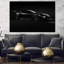 Load image into Gallery viewer, Blacked out Aston Martin Vulcan Metal Print