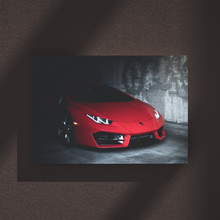 Load image into Gallery viewer, Red Huracan Metal Print - CARSOVRGIRLS