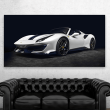 Load image into Gallery viewer, White Ferrari 488 Pista Spider Metal Print - CARSOVRGIRLS
