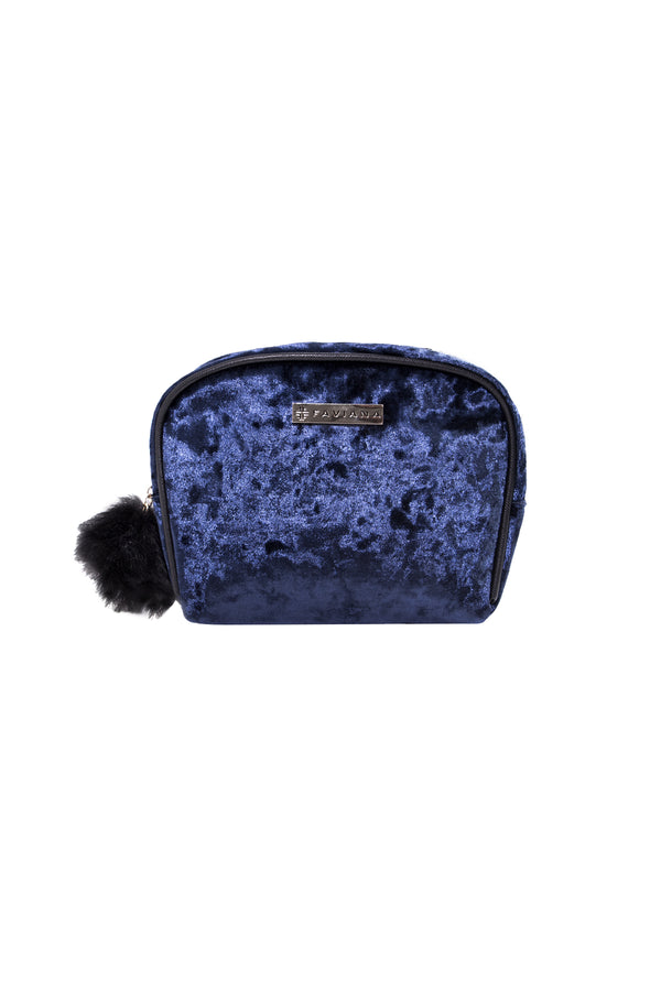 Navy Cosmetic Bag