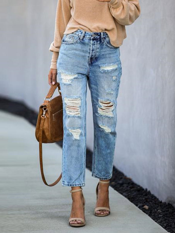 Fashionable long jeans