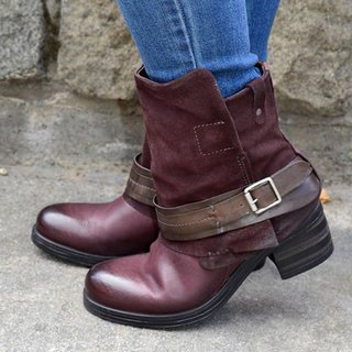 Women's side zipper waterproof knight high heel plover boot