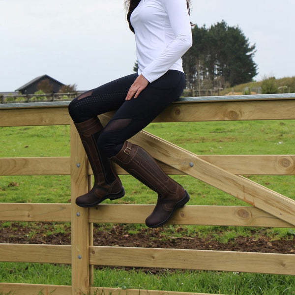 Women Handmade Country Boots Riding Boots