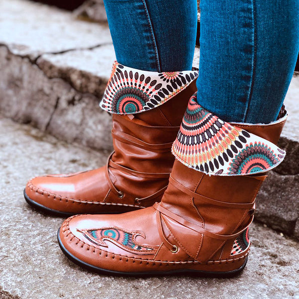 Women's Folk-custom Lace Up Vintage Comfy Boots