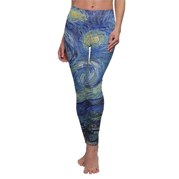 Van Gogh Star printed yoga pants
