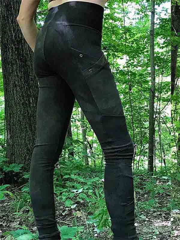Women's Dark Green Casual Leggings