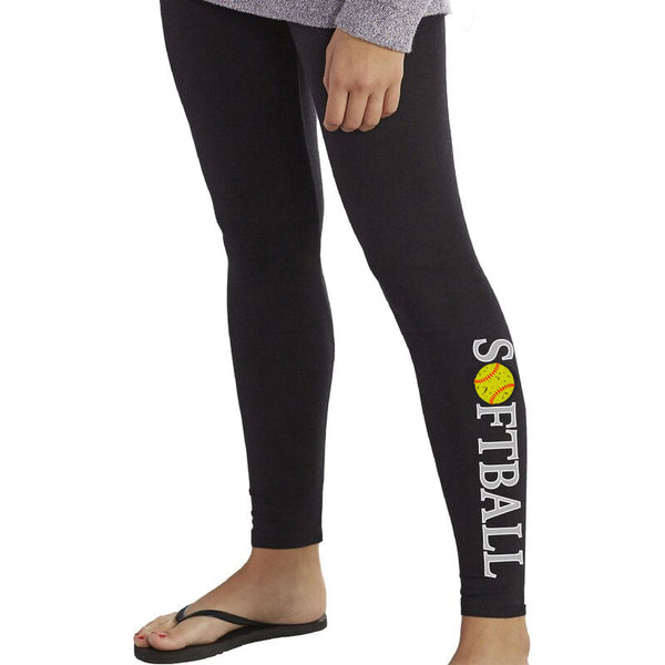 Women's Softball Print Leggings