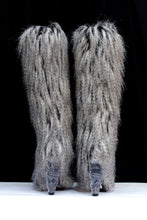 Load image into Gallery viewer, Chanel grey faux-fur boots, Fall-Winter 2010/2011