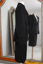Load image into Gallery viewer, Yves Saint Laurent Haute Couture black skirt and jacket set