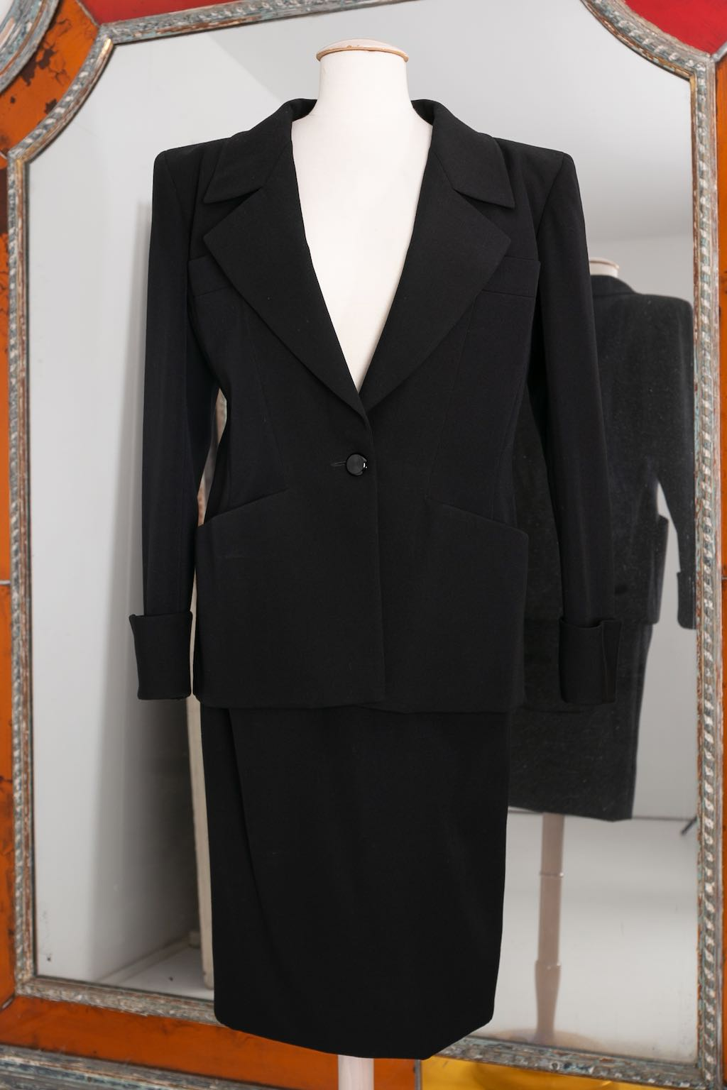 Yves Saint Laurent Haute Couture black skirt and jacket set