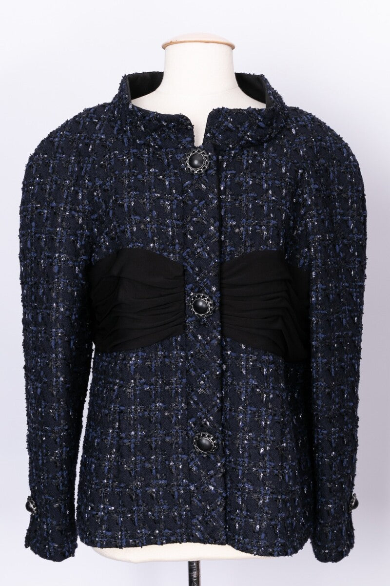 Veste en tweed bleu Chanel