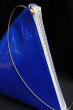 Load image into Gallery viewer, Courrèges lozenge-shaped bag in blue vinyl