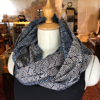 Cotton Zen Infinity Scarf | Waves