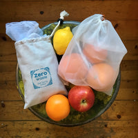 Zero Waste Mesh bags Set of 5 + pouch