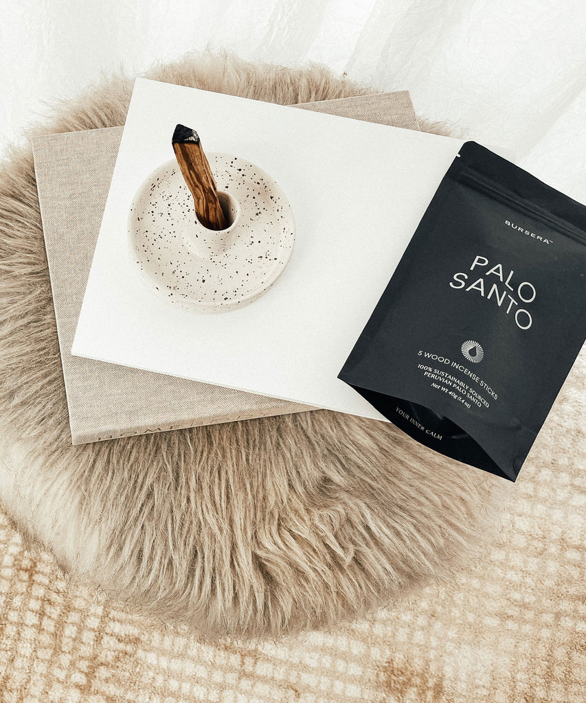 Palo Santo Holder - White