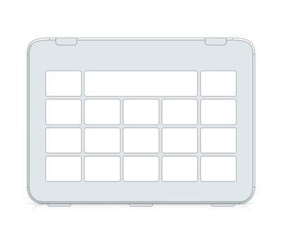 I-110 Snap Core First Keyguard 3x4 Vocabulary Grid 4x5 total