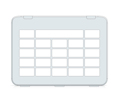 I-110 Snap Core First Keyguard 4x4 Vocabulary Grid 5x5 total