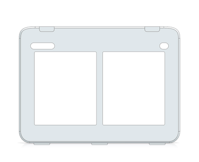 I-110 Snap Core First Keyguard 1x2 Vocabulary Grid with Menu