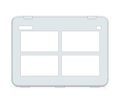 I-110 Snap Core First Keyguard 2x2 Vocabulary Grid with Menu